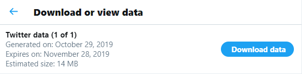 Download Or View Twitter Data