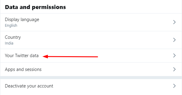 Twitter Data and Permissions Settings