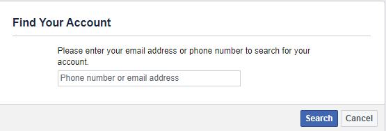 Default Facebook Recovery Option