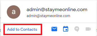 Save Email Address to Google Contacts